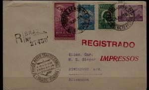 Brazil/Germany registered Zeppelin cover 24.7.36