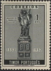Timor 272 (mh) 1a statue of St. Francis Vaxier, black (1952)