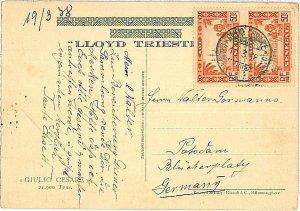 24070 - AOF SENEGAL -  POSTAL HISTORY -   Postcard to Germany 1938
