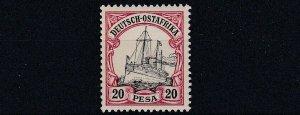 GERMAN EAST AFRICA  1901  20P  BLACK & CARMINE   MNH