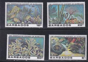 Barbados # 534-537, Underwater Scenes, NH, 1/2 Cat
