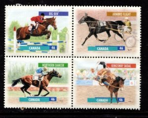 Canada - #1791- 1794 Horses Block/4  - Used
