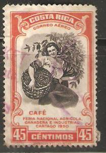 Costa Rica  Used 45 cents  1950