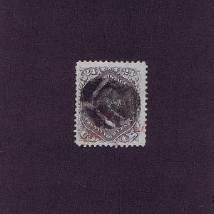 SC# 70a USED 24 CENT WASHINGTON, 1862, LEAF CANCEL, VF 2018 PSAG CERT