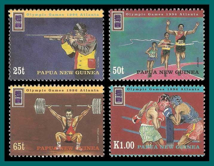 Papua New Guinea 1996 Olympic Games, MNH  898-901,SG785-SG788