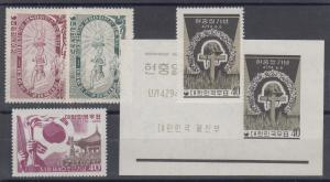 Korea Sc 223/326a MNH. 1955-61 issues, 3 cplt sets VF