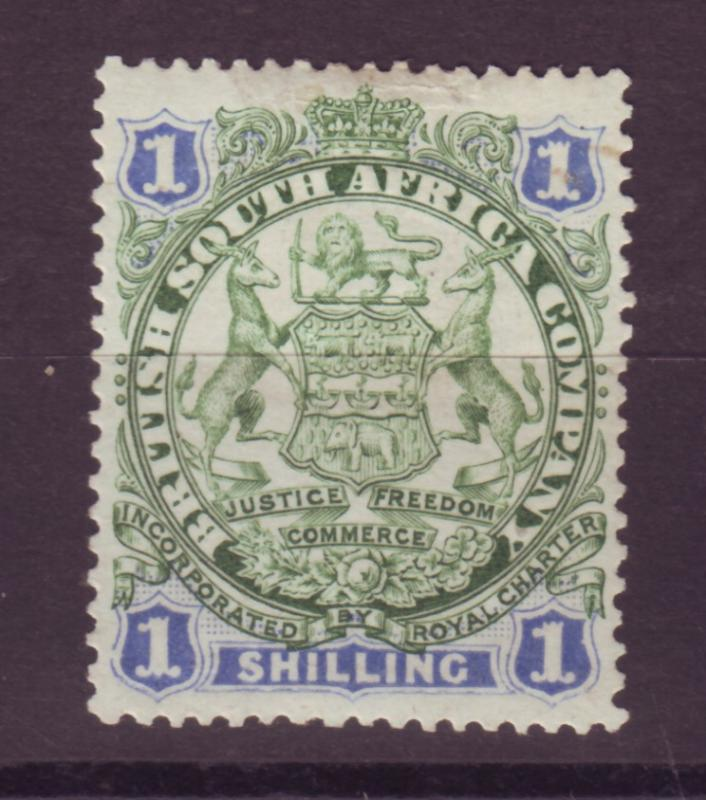 J17055 JLstamps 1896 rhodesia mhr #33 coat of arms, see 2nd scan