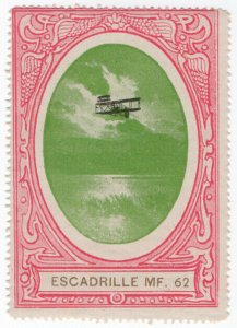 (I.B) France (Great War) Cinderella : Delandre Label (62nd Air Squadron)