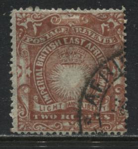 British East Africa 1890 2 rupees used
