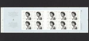 Pos.7  UNFOLDED Booklet from UNCUT sheet = QUEEN 65th Coronation Canada 2018 MNH