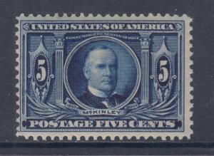 US Sc 326 MNH. 1904 5c dark blue McKinley, F+