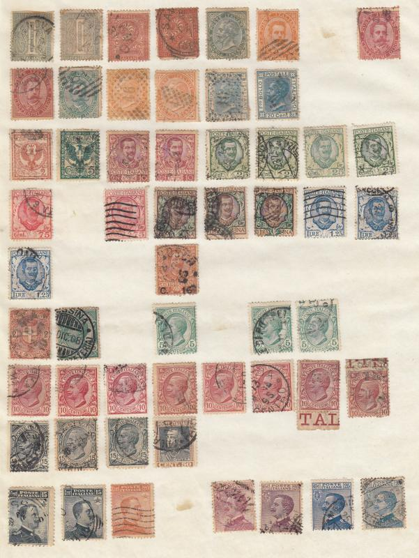 Italy - small stamp collection - (1776)