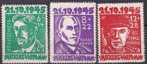 Mecklenburg-Vorpommern #12NB1-3 MNH CV $75.00  (Z4693)