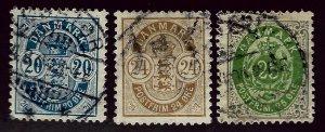 Denmark SC #48-50 Used  F-VF hr SC$30.50   ..Scandinavian sweet spot!!