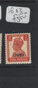 INDIA  CHAMBA  P1306B)  KGVI 2A  SG 113      MNH