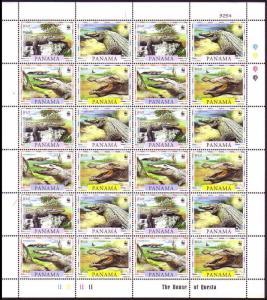 Panama WWF American Crocodile Sheetlet of 6 sets SG#1590-1593 MI#1787-1790