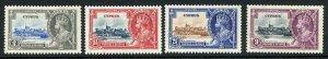 Cyprus SG144/47 1935 Silver Jubilee Set M/M