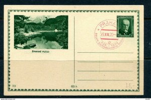 Slovakia Postal Stationary Card cancel 28.IX.1929 Praga  11260