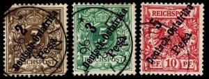 1896 German East Africa #6-8 - Used - VF - CV$37.50 (ESP#8932)