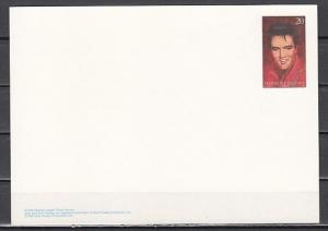 Marshall Is., Scott cat. 608. Elvis issue as a Postal Card. *
