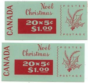 Canada - 1968 5c Chirstmas Booklets #BK72a & #BK72b