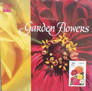 US Stamp Folio 1994 Garden Flowers 2829-33 4 designs