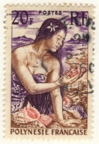 French Polynesia #190 used – woman
