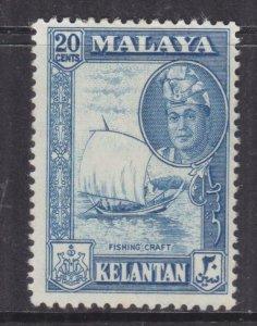 KELANTAN, 1962 Sultan Yahya Petra 20c. Blue, lhm.