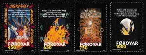 Faroe Is. 'Brynhild's Ballad' traditional poem 4v SG#338-341 SC#332-335