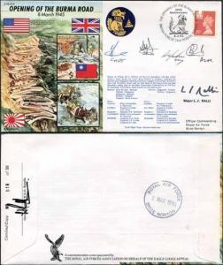 JS45/4 The Opening of the Burma Road Signed Major Ralli and Others 30 Made (D)