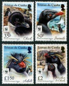 HERRICKSTAMP NEW ISSUES TRISTAN DA CUNHA Sc.# 1117a WWF Rockhopper Penguin