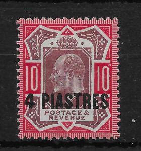 BRITISH LEVANT SG31a 1912-4 4pi ON 10d MTD MINT