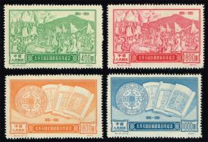 China PRC #124-127 Reprint Set of 4; Unused NGAI (10.00)