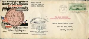 #C18 1933 ECKNER FLIGHT COVER BM9655
