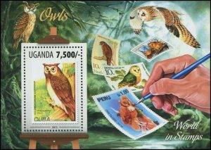 Uganda 2013 Sc 2081 Birds Owl CV $6.25