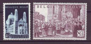 J21317 Jlstamps 1952 belgium hv,s of set mh #b512-3 views