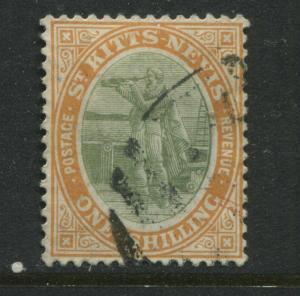 St. Kitts 1909 1/ used
