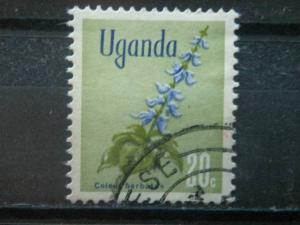 UGANDA,  1969, used 20c, Flowers Scott 118