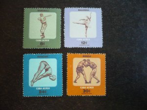 Stamps - Cuba - Scott#C158-C161 - Mint Hinged Set of 4 Stamps