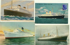 ISRAEL 1950's PASSENGER SHIPS POST CARDS LOT # 1 - SEE 2 SCANS