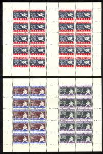 GERMANY AUGSBURG HOCHFELD 1948 BALTIC DP CAMP Set in SHEETLETS MNH NG As Issued