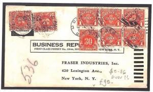 AR249 USA POSTAGE DUE Cover $5.36 *Bundle Rate* RETOUR Business Reply Service