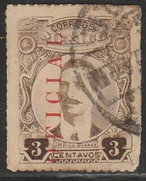 MEXICO O126, 3c OFFICIAL. Used. (1148)