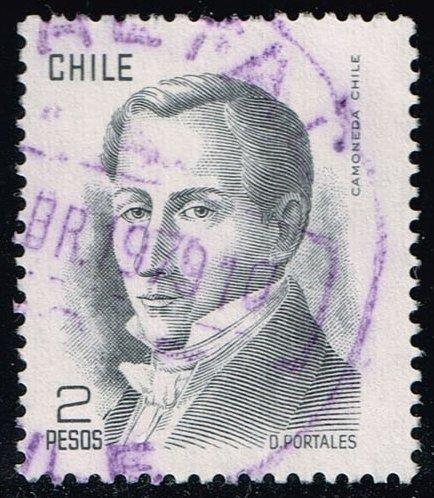 Chile #483 Diego Portales; Used (0.25)