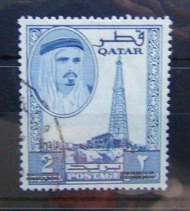 Qatar 1966 2r on 2r Blue  SG149 Fine Used