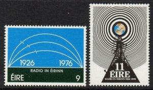 IRELAND SG399/400 1976 IRISH BROADCASTING SERVICE MNH