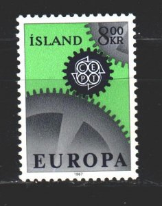 Iceland. 1967. 410 from the series. Europe Sept. MNH.