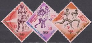 Guinea #312-4 MNH VF Carmine Overprints CV $7.00 (A7888)