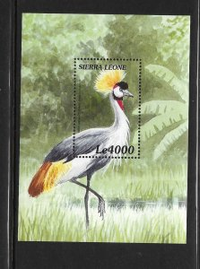 BIRDS- SIERRA LEONE #2247 GREY CROWNED CRANE  MNH