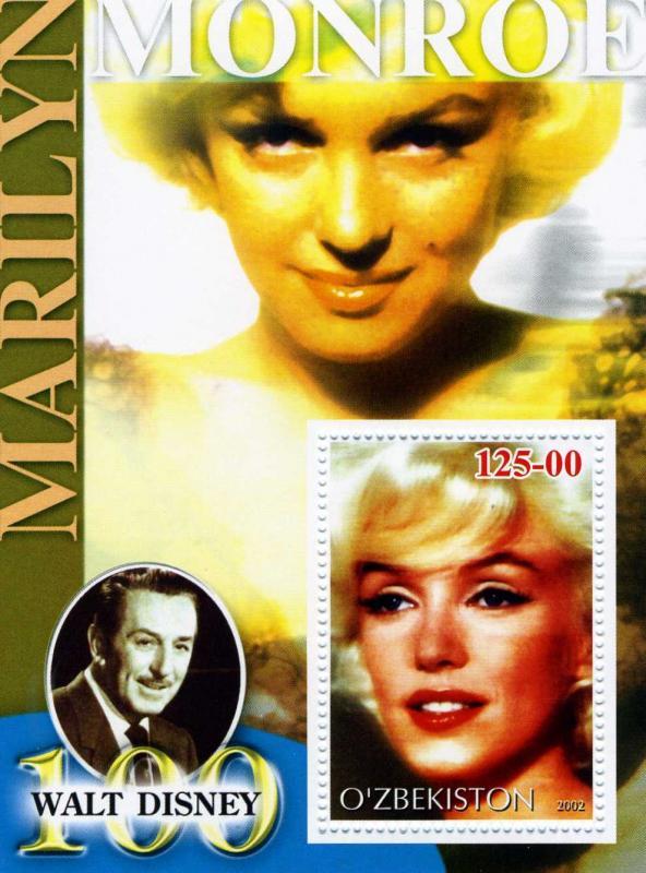Uzbekistan 2002 Marilyn Monroe s/s Perforated mnh.vf